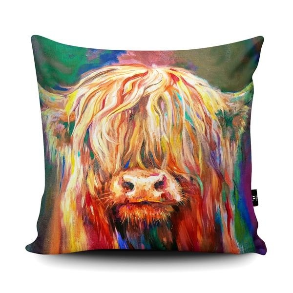 cow theme cushion baby highland cow