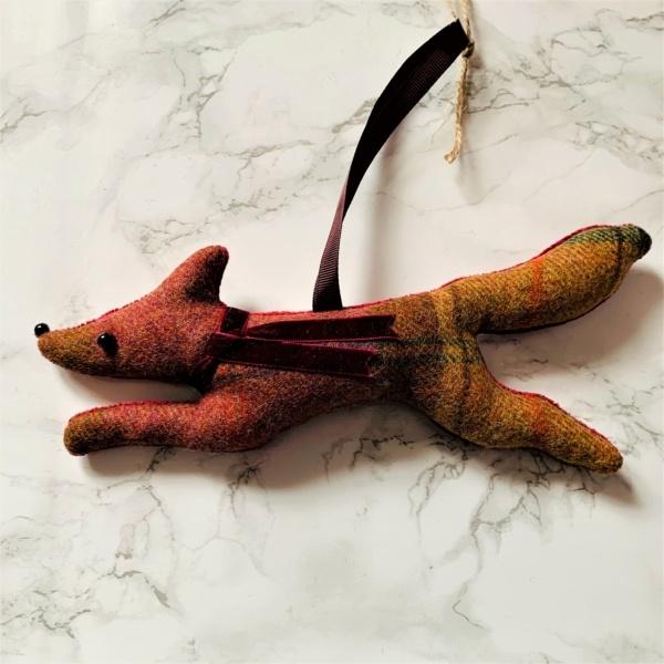 fox hanging decoration russet brown orange
