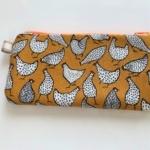 hen slim pouch pencil case