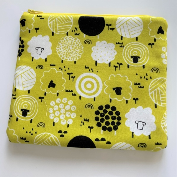 sheep square make up pouch case
