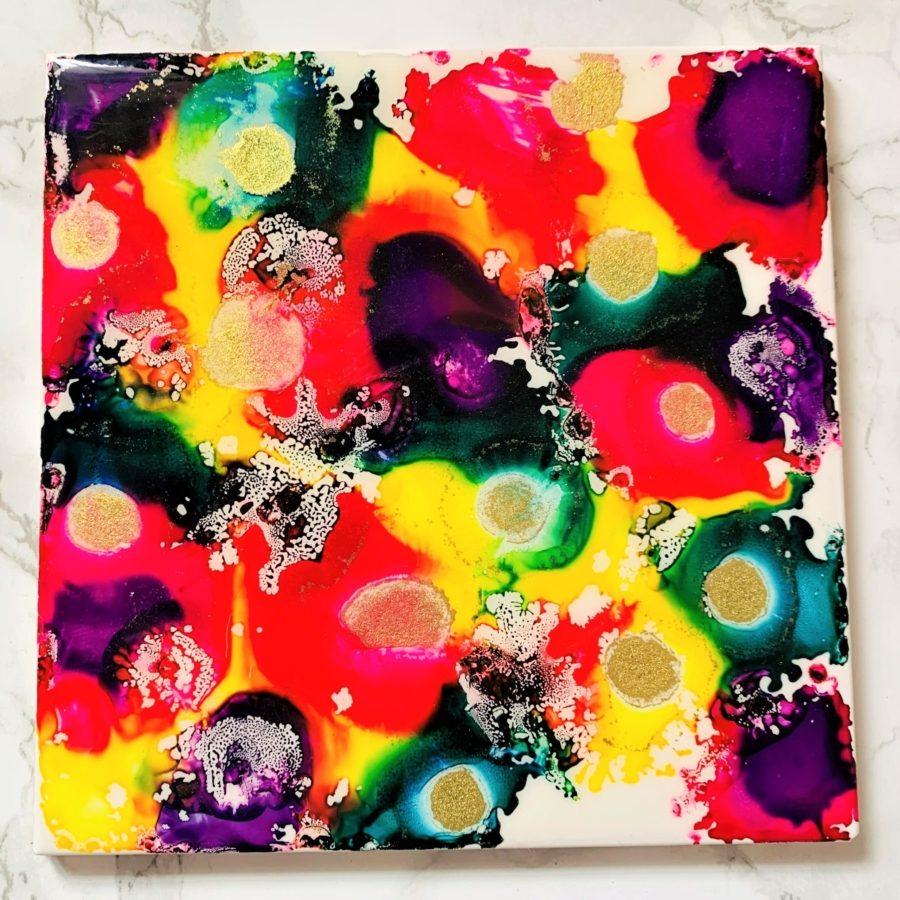 vibrant ceramic medium tile board