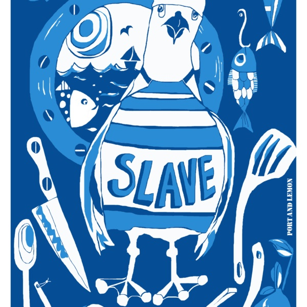 seaside theme kitchen tea towel galley slave