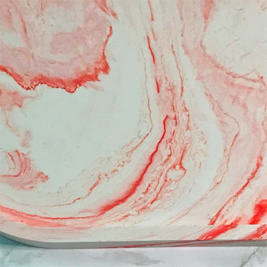 trinket tray close up pink