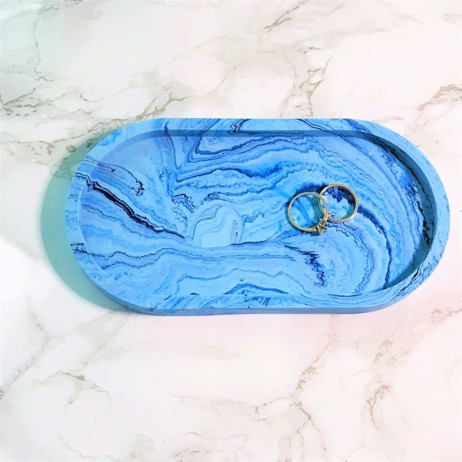 trinket tray blues close up